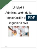 Administracion de La Construccion en La Ing Civil
