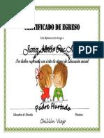 Certificado de Egreso 2016