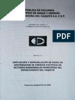 AMPLIACION Y REMODELACION DE REDES DE DISTRIBUCION DE ENERGIA ELECTRICA CAQUETA SEP 2000.pdf