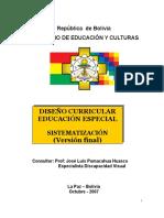 Diseño Curricular Eduacion Especial