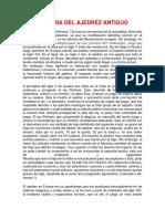 Historia Del Ajedrez Antiguo