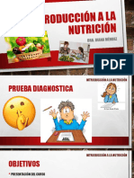 Introduccion a La Nutricion.