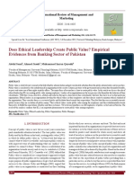 Does Ethical Leadership Create Public Value