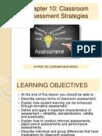 Topics 10 11 Classroom Assessment