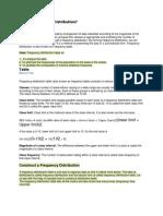 Statistics Formula (Grouped Data)