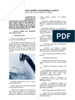 Groundwater Quality and Pollution Control