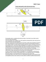 Hydrodynamic Calculation Butterfly Valve (Lenticular Disc)