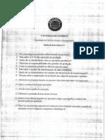 Ficha de Exercicios gestão operacional