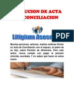 Ejecucion de Acta de Conciliacion