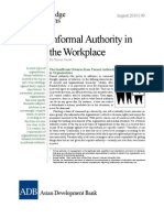 Informal Authority in the Workplace