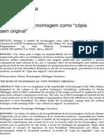"""O Sentido de tecnoimagem como """"cópia sem original"""" – NOTA manuscrita"""