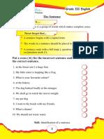 Grade 3 English Worksheet