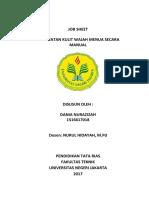 Job Sheet Pigmentasi Secara Manual