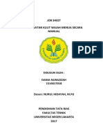 Job Sheet Pigmentasi Secara Manual