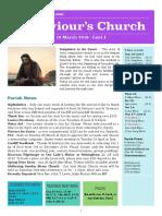 st saviours newsletter - 10 march 2019