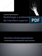 Radiologia de Miembro Superior