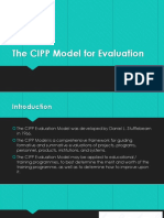 The CIPP Model for Evaluation