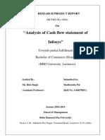 Analysis of Cash flow statement of Infosys