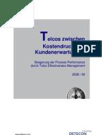 Detecon Opinion Paper Telcos zwischen Kostendruck und Kundenerwartungen. Steigerung der Prozess-Performance durch Telco Effectiveness Management