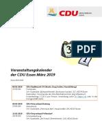 Veranstaltungskalender März 2019