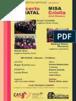 Cartaz A4 Concerto Natal Capitolio