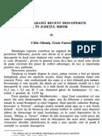 Ghemis C, Fazecas G - Piese de arama recent descoperite in judetul Bihor, in Crisia 31, 2001, 23-33