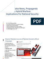Online False News, Propaganda & Hybrid Warfare