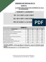 Calendario de Provas 1 Ao 9 Periodo