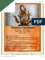 Half Elf Character Idea