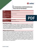 Financiación Emprendimientos Sílabo 2019