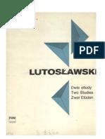 Lutoslawski - 2 Etudes