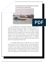How the Maritime Transportation Had Contributed to the Growth of Other Mode of Transportation