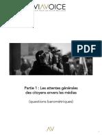 Les Attentes Des Français Envers Les Médias. 2e Vague. Mars 2019 (1)