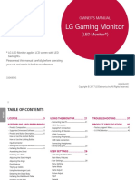 LG Monitor Owner's Manual
