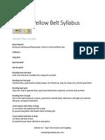 Yellow Belt Curriculum
