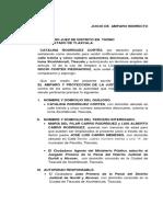 1.- Juicio de Amparo Indirecto vs Auto de Formal Prisión Catalina Rodríguez Cortés.