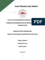 Manual de Usuario Servidor VPN Con VozIP