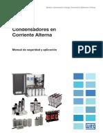 WEG 10005056256 Condensadores en Corriente Alterna Manual de Seguridad y Aplicaciones Es