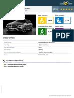 Euroncap 2018 Mercedes Benz a Class Datasheet.201810260953529885