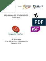 Programa - Apuramento Do ISF 2019 - Atletismo