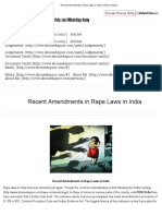 Recent Amendments in Rape Laws in India