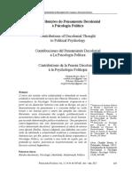 ALVES, C; DeLMONDEZ, P. 2005. Contribuicoes Do Pensamento Decolonial a Psicologia