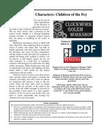 Clockwork Golem - Children of the Fey (d20)