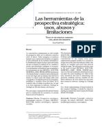 Paper sobre herramientas de prospectiva