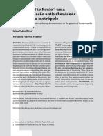 O Modelo São Paulo - Jaime Oliva e Fernanda Fonseca