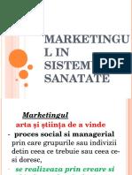 Curs 4 - Marketingul in Sistemul de Sanatate (1)