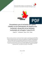 Inclusion Cambio Climatico en Planes de Desarrollo y Ordenamiento Territorial Guia Region Central RAPE