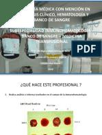 Inmunohematología y Banco de Sangre