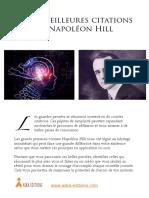 Les 53 Meilleures Citations de Napoléon Hill