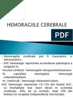 HEMORAGIILE CEREBRALE